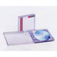 Pojemnik na 10 CD, z kieszeniami na CD, Pojemniki na CD, Archiwizacja dokumentów
