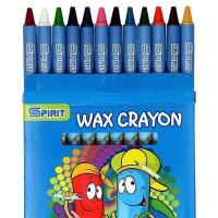Kredki świecowe woskowe GATARIC, 12szt., mix kolorów, Plastyka, Artykuły szkolne