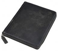 Etui na tablet ALASSIO, skórzane, 21,5 x 25,5 x 3,5cm, czarno-szare, Etui, Akcesoria komputerowe