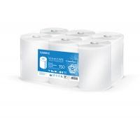 Ręcznik do podajników VELVET AutoCut, celulozowe, 2-warstwowe, śr. 19cm, 6rolek x 150m, biały, Ręczniki papierowe i dozowniki, Artykuły higieniczne i dozowniki