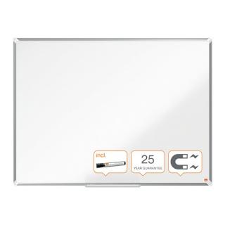 Tablica porcelanowa Nobo Premium Plus, 1200 x 900mm, rama aluminiowa, biała, Tablice suchościeralne, Prezentacja