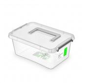 Pojemnik antybakteryjny ORPLAST Antibacterial, z rączką, 4,5l, (290 x 120 x 290mm), transparentny, Pudła, Wyposażenie biura