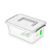 Pojemnik antybakteryjny ORPLAST Antibacterial, z rączką, 4,5l, (290 x 200 x 120 mm), transparentny, Pudła, Wyposażenie biura