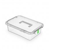 Pojemnik antybakteryjny ORPLAST Antibacterial, z rączką, 8,5l, (290 x 110 x 390mm), transparentny, Pudła, Wyposażenie biura