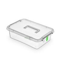 Pojemnik antybakteryjny ORPLAST Antibacterial, z rączką, 8,5l, (390 x 290 x 110mm), transparentny, Pudła, Wyposażenie biura