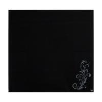 Tablica suchoś. -magn. SIGEL, (480 x 480 x 15mm), szklana, z motywem kwiatowym, czarna, Tablice suchościeralne, Prezentacja