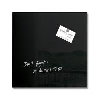 Tablica suchoś. -magn. ARTVERUM, (300 x 300 x 1,5mm), szklana, czarna, Tablice suchościeralne, Prezentacja