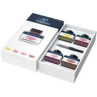 Zestaw prezentowy 2 SCHNEIDER, 4 x atrament pastelowy w kałamarzu, 1 x konwerter, mix kolorów, Pióra, Artykuły do pisania i korygowania