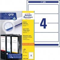 Etykiety na segregatory Avery Zweckform; A4, 100 ark./op., 61 x 192 mm, białe, Etykiety do organizowania i archiwizowania, Papier i etykiety