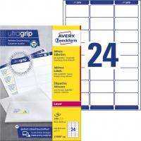 Etykiety adresowe białe Avery Zweckform; A4, 100 ark./op., 63,5 x 33,9 mm, Etykiety na listy i koperty, Papier i etykiety