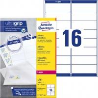 Etykiety adresowe białe Avery Zweckform; A4, 100 ark./op., 99,1 x 33,9 mm, Etykiety na listy i koperty, Papier i etykiety