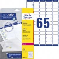 Etykiety adresowe białe Avery Zweckform; A4, 25 ark./op., 38,1 x 21,2 mm, Etykiety na listy i koperty, Papier i etykiety