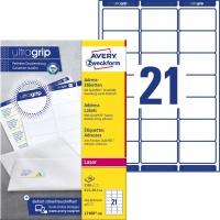 Etykiety adresowe białe Avery Zweckform; A4, 100 ark./op., 63,5 x 38,1 mm, Etykiety na listy i koperty, Papier i etykiety