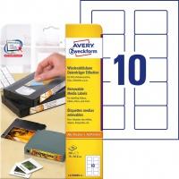 Usuwalne etykiety na dyskietki Avery Zweckform; A4, 25 ark./op., 70 x 50,8 mm, białe, Etykiety na nośniki danych, Papier i etykiety