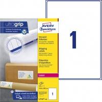 Białe etykiety wysyłkowe Avery Zweckform; A4, 100 ark./op., 199,6 x 289,1 mm, Etykiety na paczki i przesyłki, Papier i etykiety