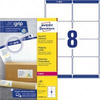 Białe etykiety wysyłkowe Avery Zweckform; A4, 100 ark./op., 99,1 x 67,7 mm, Etykiety na paczki i przesyłki, Papier i etykiety