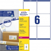Białe etykiety wysyłkowe Avery Zweckform; A4, 100 ark./op., 99,1 x 93,1 mm, Etykiety na paczki i przesyłki, Papier i etykiety
