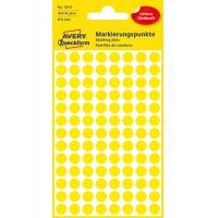 Kolorowe kółka do zaznaczania Avery Zweckform; 416 etyk./op., Ø8 mm, żółte, Kółka do zaznaczania, Papier i etykiety