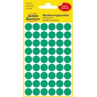 Kolorowe kółka do zaznaczania Avery Zweckform; 270 etyk./op., Ø12 mm, zielone, Kółka do zaznaczania, Papier i etykiety