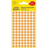 Kolorowe kółka do zaznaczania Avery Zweckform; 416 etyk./op., Ø8 mm, pomarańczowe odblaskowe, Kółka do zaznaczania, Papier i etykiety