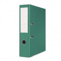 Segregator BASIC-S z szyną, PP, A4/75mm, zielony, Segregatory polipropylenowe, Archiwizacja dokumentów