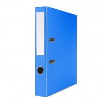 Segregator BASIC-S z szyną, PP, A4/50mm, niebieski, Segregatory polipropylenowe, Archiwizacja dokumentów