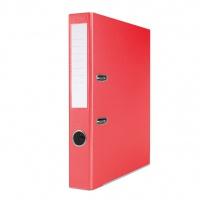 Segregator BASIC-S z szyną, PP, A4/50mm, czerwony, Segregatory polipropylenowe, Archiwizacja dokumentów