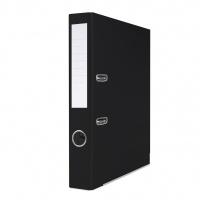 Segregator BASIC-S z szyną, PP, A4/50mm, czarny, Segregatory polipropylenowe, Archiwizacja dokumentów