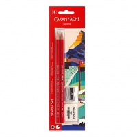 Ołówki HB Edelweiss 2szt + gumka i temperówka, blister, Ołówki, Artykuły do pisania i korygowania