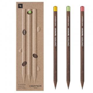 Ołówki Nespresso Swiss Wood 3szt, Ołówki, Artykuły do pisania i korygowania