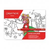 Pocztówki do kolorowania Caran d'Ache SWISS EXPLORER, Plastyka, Artykuły szkolne