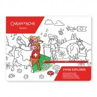 Kolorowanka 90x90cm Caran d'Ache SWISS EXPLORER, Plastyka, Artykuły szkolne
