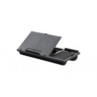 Podstawa pod laptopa z podkładką pod mysz Q-CONNECT, 51,8 x 28,1 x 5,9 cm, czarna, Ergonomia, Akcesoria komputerowe