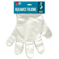Rękawice foliowe ANNA ZARADNA, rozmiar L, 100 szt. na blistrze, bezbarwne, Rękawice, Ochrona indywidualna
