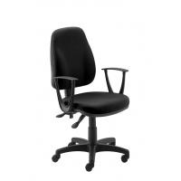 Fotel biurowy OFFICE PRODUCTS Paros, czarny, Krzesła i fotele, Wyposażenie biura