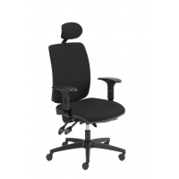 Fotel biurowy OFFICE PRODUCTS Kefalonia, czarny, Krzesła i fotele, Wyposażenie biura