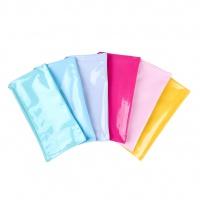 Piórnik saszetka GIMBOO, płaska, PVC, 280 MIC, mix kolorów pastel, Piórniki, Artykuły szkolne