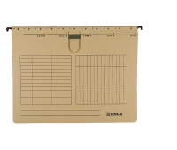 Suspension File DONAU with filling strip fastener, A4, 230gsm, brown, Hanging folders, Document archiving