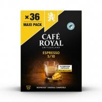 Kapsułki kawowe CAFE ROYAL ESPRESSO, 36 szt, Kawa, Artykuły spożywcze