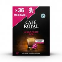 Kapsułki kawowe CAFE ROYAL LUNGO FORTE, 36 szt, Kawa, Artykuły spożywcze