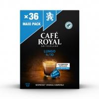 Kapsułki kawowe CAFE ROYAL LUNGO, 36 szt, Kawa, Artykuły spożywcze
