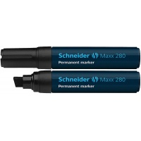 Marker permanentny SCHNEIDER Maxx 280, ścięty, 4-12mm, czarny, Markery, Artykuły do pisania i korygowania