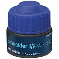 Stacja uzupełniająca SCHNEIDER Maxx 640, 30 ml, niebieski, Markery, Artykuły do pisania i korygowania