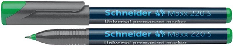 Foliopis permanentny SCHNEIDER Maxx 220 S, 0,4mm, zielony, Markery, Artykuły do pisania i korygowania