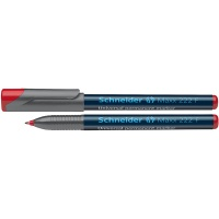Foliopis permanentny SCHNEIDER Maxx 222, F, 0,7mm, czerwony, Markery, Artykuły do pisania i korygowania