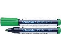 Marker do tablic SCHNEIDER Maxx 290, okrągły, 2-3mm, zielony, Markery, Artykuły do pisania i korygowania