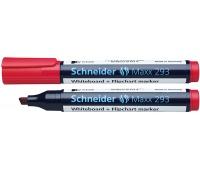 Marker do tablic SCHNEIDER Maxx 293, ścięty, 2-5mm, czerwony, Markery, Artykuły do pisania i korygowania