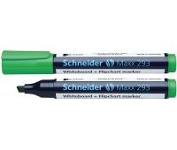 Marker do tablic SCHNEIDER Maxx 293, ścięty, 2-5mm, zielony, Markery, Artykuły do pisania i korygowania