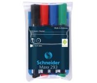 Zestaw markerów do tablic SCHNEIDER Maxx 293, 2-5mm, 4 szt., miks kolorów, Markery, Artykuły do pisania i korygowania