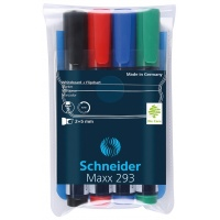 Zestaw markerów do tablic Maxx 293 2-5 mm 4 szt. miks kolorów, Markery, Artykuły do pisania i korygowania